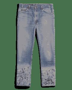 VTGE Series Denim with Catacombs Print – Blue