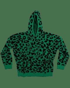 Cheetah Knit Sweater Hoodie