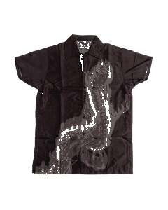 Flaming Snake Button Up