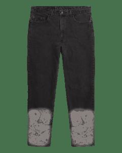 VTGE Series Denim with Catacombs Print – Black