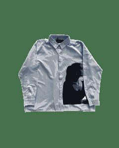 Replenish oversized shirt blue